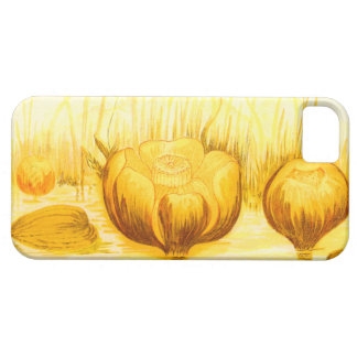 Vintage Illustration of Yellow Pond Lilies iPhone SE/5/5s Case