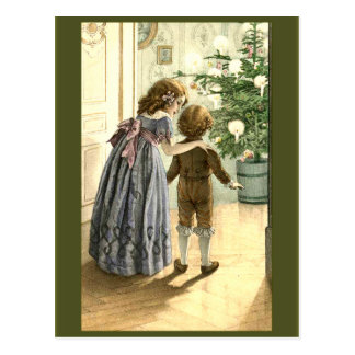 Vintage Illustration on Christmas Cards Post Cards