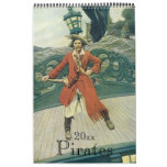 Vintage Illustration Pirates and Buccaneers Calendar