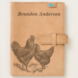 Vintage Illustration Rooster Personalized Journal