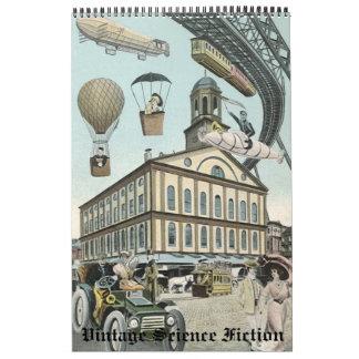 Vintage Illustration Science Fiction Steampunk Calendar