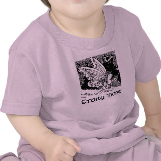 Vintage Illustration Story Time Fairy Baby Tee