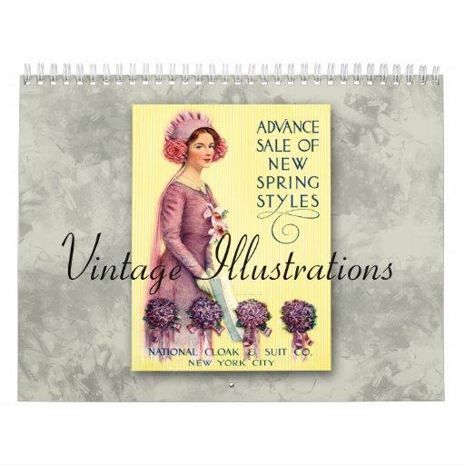 Vintage Illustrations 2013 Calendar