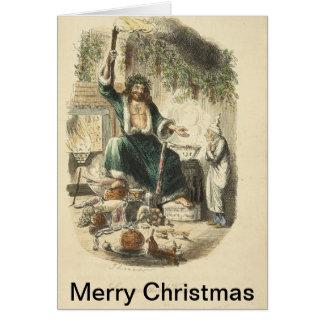 Vintage Illustrations from Christmas Carol Greeting Card