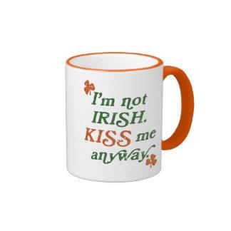 Vintage I'm not Irish Kiss Me Anyway Coffee Mug