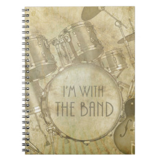 Vintage I'm with the Band Notebook