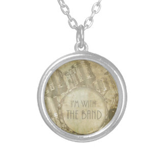 Vintage I'm with the Band Silver Plated Necklace
