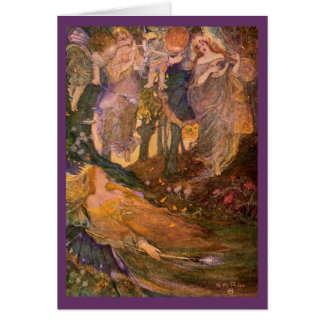 Vintage Image - A Midsummer Night's Dream Greeting Card