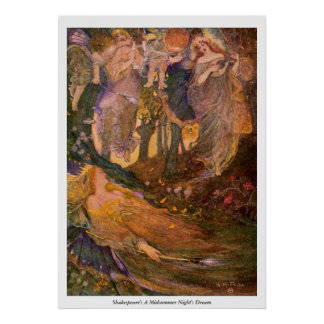 Vintage Image - A Midsummer Night's Dream Poster
