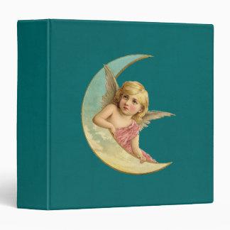 Vintage Image - Angel Sitting on a Crescent Moon Binder