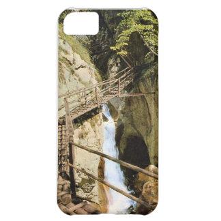 Vintage image Austria, Waterfall, viewing platform iPhone 5C Cover