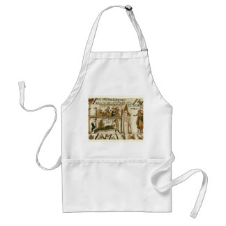 Vintage image, Bayeux Tapestry Adult Apron