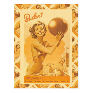 Vintage image,  Butlin's Holiday Camps Postcard