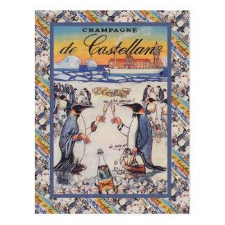 Vintage image,  Champagne de Castellane Postcard
