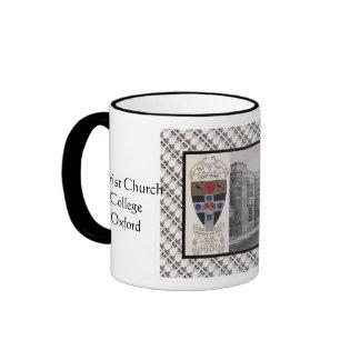 Vintage image, Christ Church College, Oxford Ringer Coffee Mug