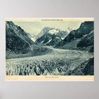 Vintage image, France, Chamonix Mont Blanc Poster