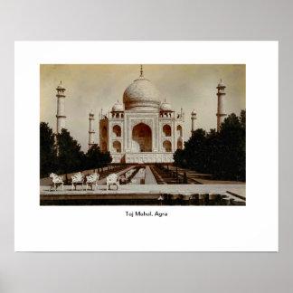 Vintage image, India, Taj Mahal, Agra Poster