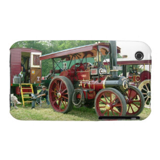 Vintage image. Man and his vehicle and trailer. iPhone 3 Case-Mate Cases