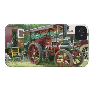 Vintage image. Man and his vehicle and trailer. iPhone 4 Cover