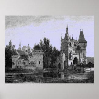 Vintage Image - Medieval Castle Poster