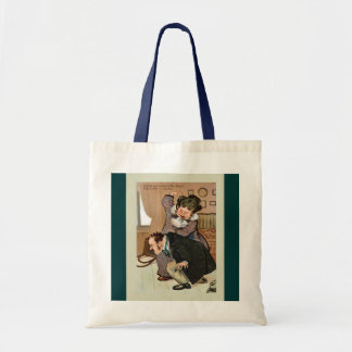 Vintage image, Naughty boy Tote Bag