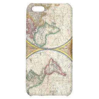 Vintage image of a world map iPhone 5C cases