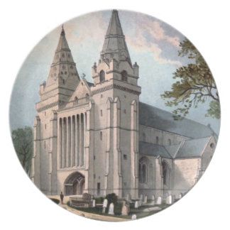 Vintage image of Aberdeen Cathedral circa 1908 Plate
