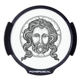 Vintage Image of Christ LED Car Decal