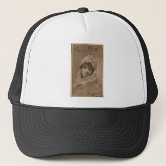 Vintage Image of Girl In Shawl Trucker Hat