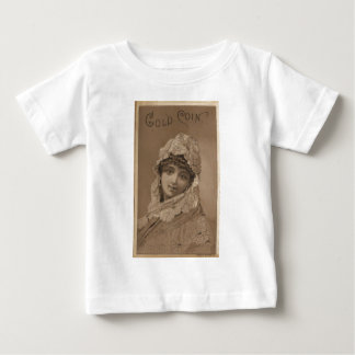 Vintage Image of Girl In Shawl Tee Shirts