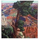 Vintage Image of Grand Canyon Landscape Cloth Napkin