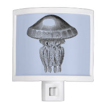 Vintage Image of Jelly fish on Night Light
