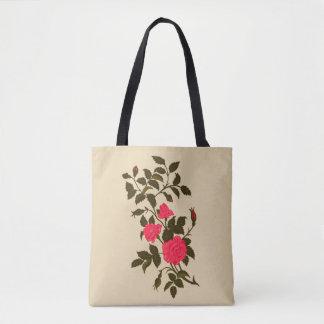 Vintage Image of Pink Rambling Roses Tote Bag