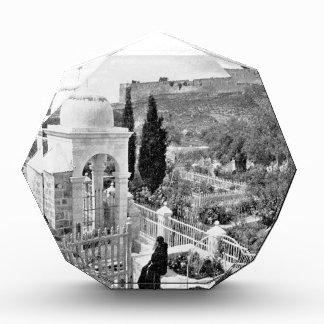 Vintage Image of the Garden of Gesthemane Acrylic Award