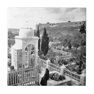 Vintage Image of the Garden of Gesthemane Tile