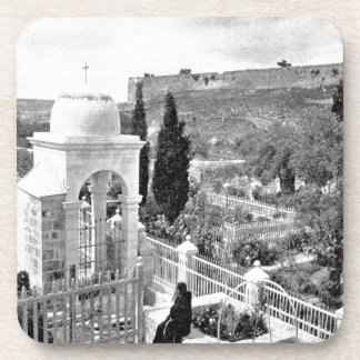 Vintage Image of the Garden of Gethsemane Beverage Coaster