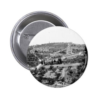 Vintage Image of the Mount of Olives Button