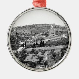 Vintage Image of the Mount of Olives Metal Ornament