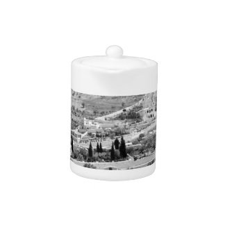 Vintage Image of the Mount of Olives Teapot