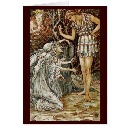Vintage Image - Perseus and the Graeae Card