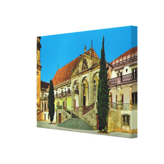 Vintage image, Portugal, Coimbra University Stretched Canvas Print