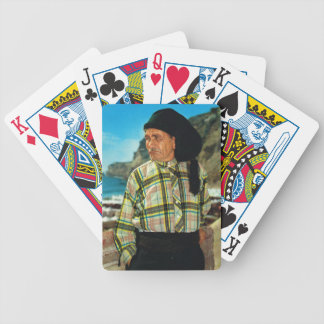 Vintage image Portugal Nazare fisherman Playing Cards