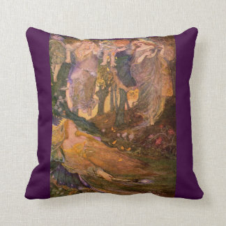 Vintage Image Shakespeare-Midsummer Night's Dream Throw Pillow
