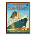 Vintage image,  Story of the Queen Mary, 6 pence, Postcard