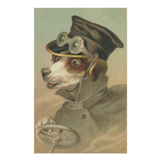 Vintage Image - The Doggie Driver Poster