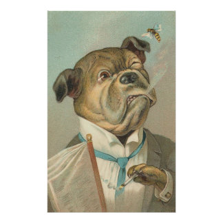 Vintage Image - The Doggie Socialite Poster