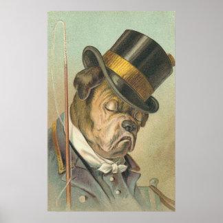 Vintage Image - The Sleepy Doggie Driver Poster