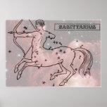 Vintage Image - Zodiac - Sagittarius Posters