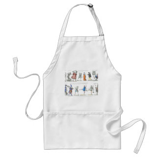 Vintage Images Fashionable French Ballet Adult Apron