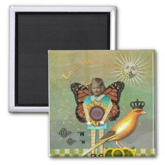 Vintage Images Little Miss Sunshine Magent 2 Inch Square Magnet